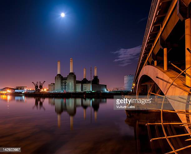 battersea power station - wandsworth stock pictures, royalty-free photos & images