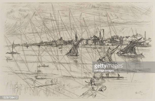 Battersea Reach, 1863. Artist James Abbott McNeill Whistler.