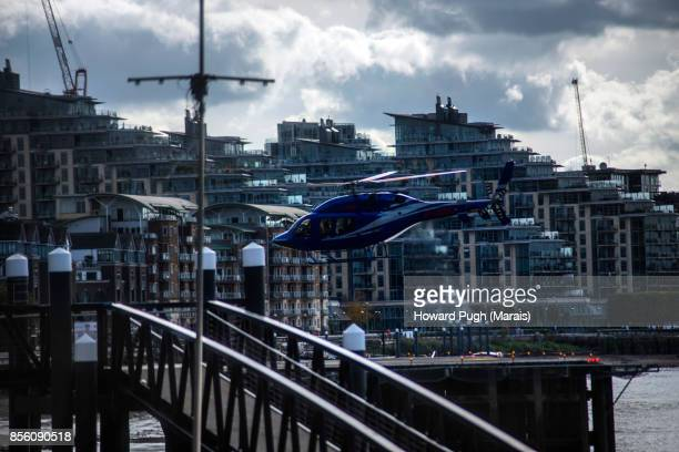 Battersea Reach & Bridge. Helicopter Zone