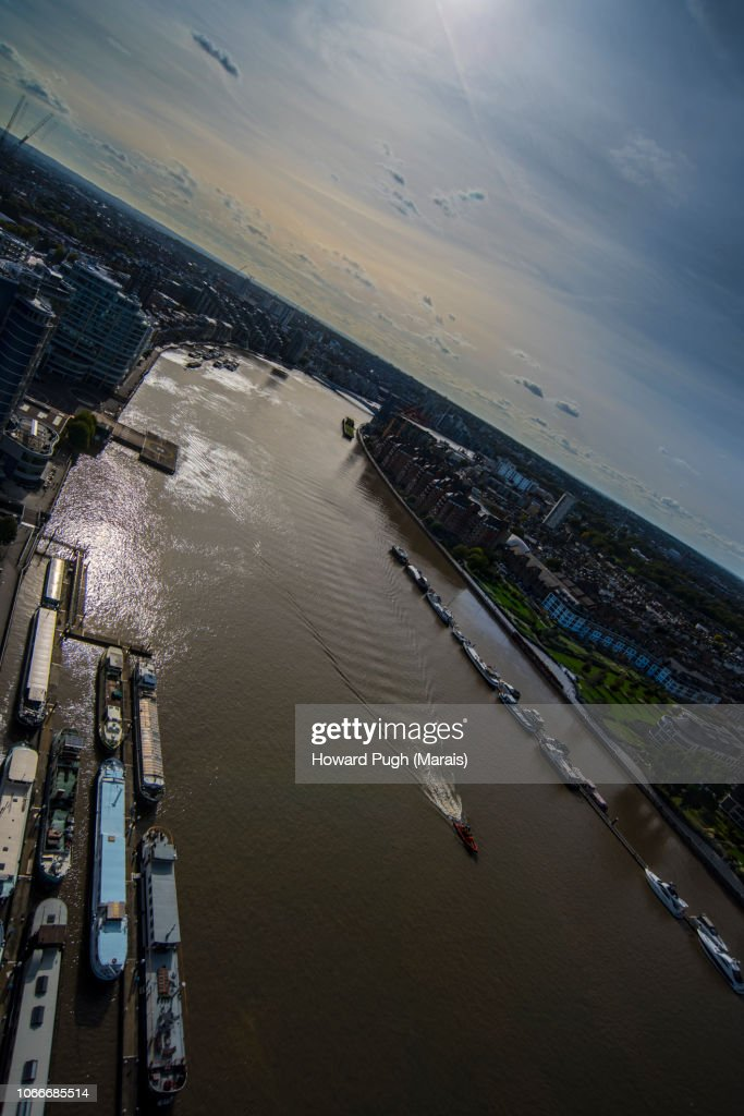 Battersea Upon Thames by Aerial View : Foto de stock