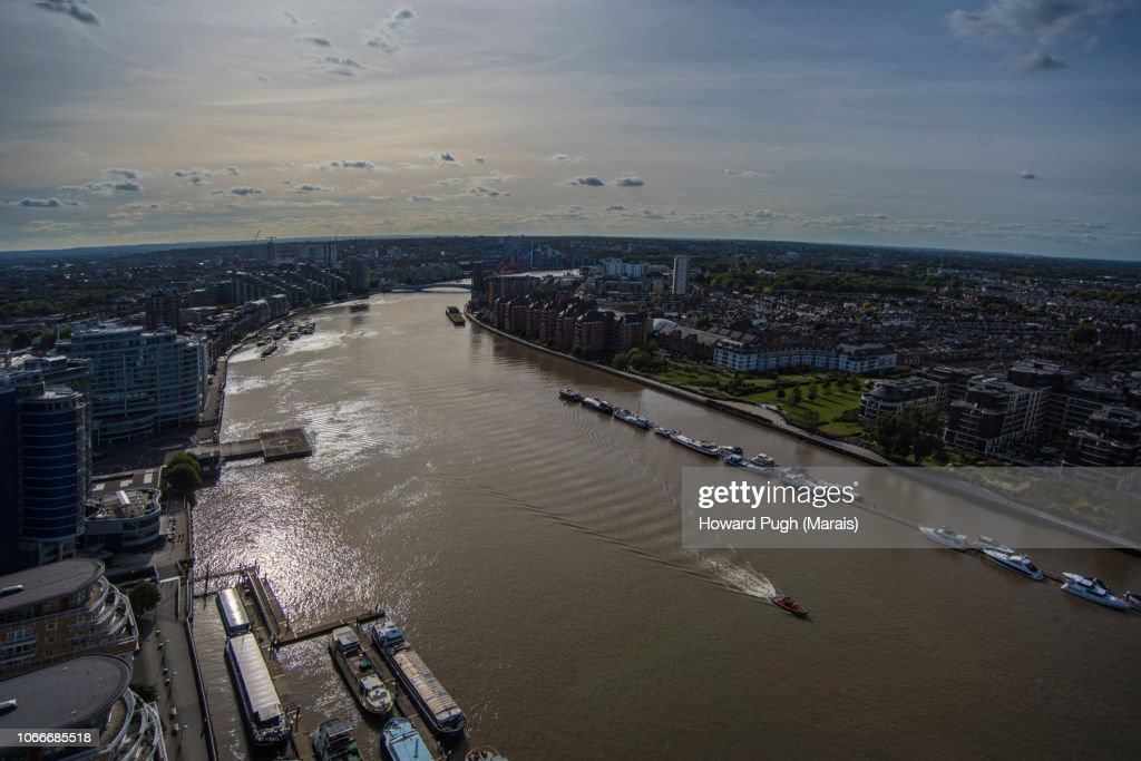 Battersea Upon Thames by Aerial View : Stock-Foto