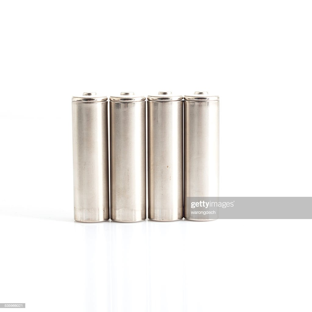 Battery charger with batteries : Stock Photo