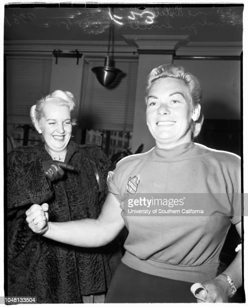 Battery, City Attorney's Office, 15 October 1951. Don Redwine ;Jeanne?? Axtell;Evelyn Smith..