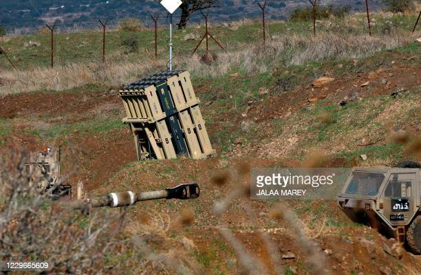Battery of Israel's Iron Dome, designed to intercept and destroy incoming short-range rockets and artillery shells, is pictured in the...