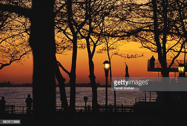 Battery Park at Sunset