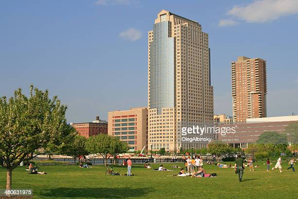 battery park city, downtown manhattan, new york. - citigroup stock pictures, royalty-free photos & images