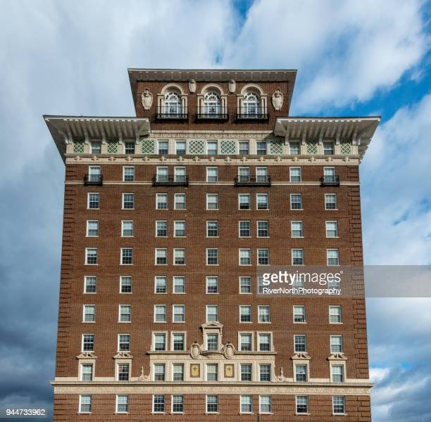 battery park hotel, asheville, north carolina - asheville stock pictures, royalty-free photos & images