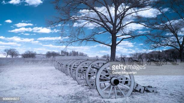 battery park in valley forge - revolutionary war - fotografias e filmes do acervo