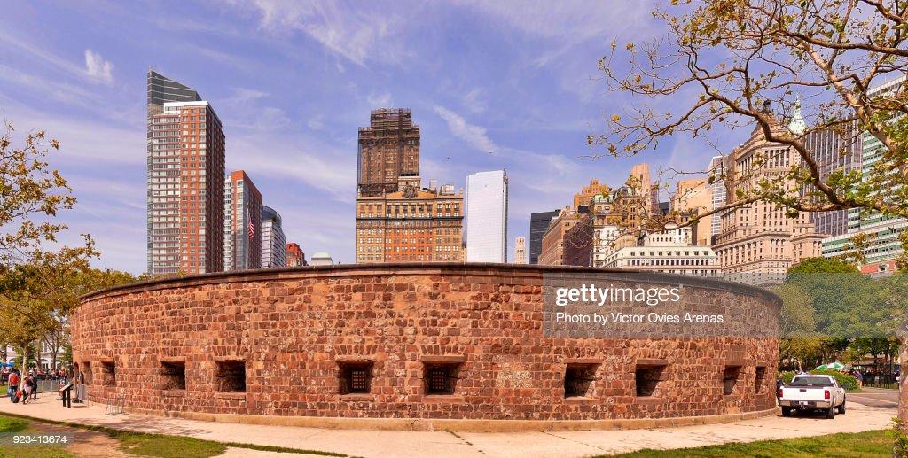 Battery Park, Manhattan Harbour, New York, USA : Foto de stock