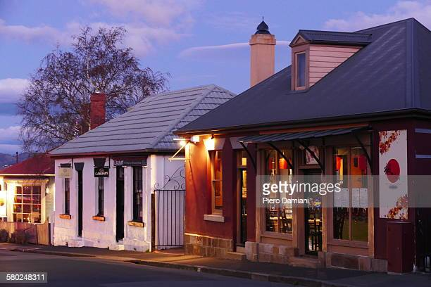 battery point at dusk - hobart tasmania stock pictures, royalty-free photos & images
