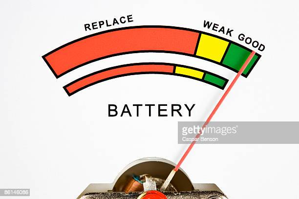 a battery tester - 計量器 ストックフォトと画像