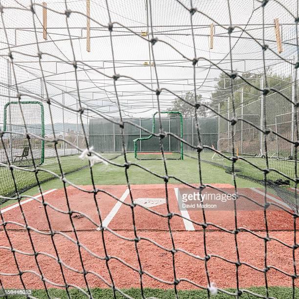 Batting cage at baseball field.