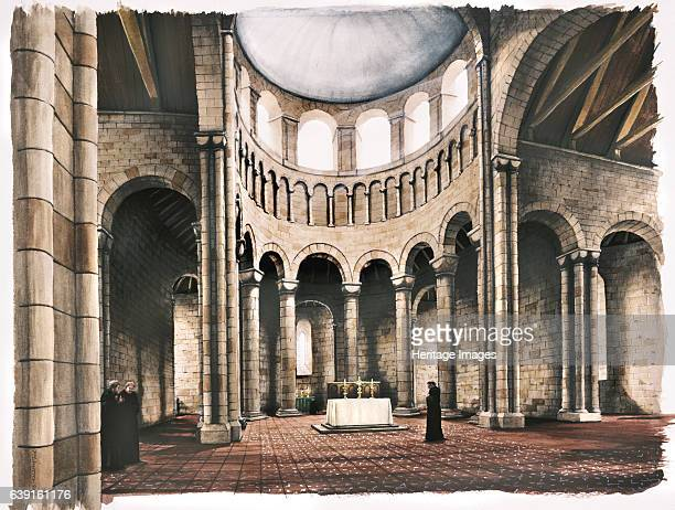 Battle Abbey 12th century Reconstruction drawing of the interior of the abbey church in the 12th century Battle Abbey is a partially ruined...