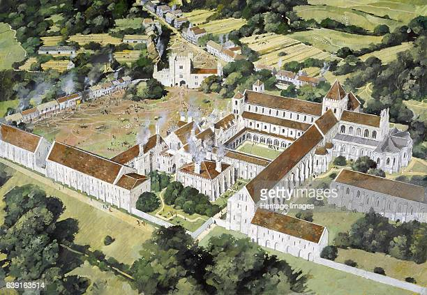 Battle Abbey 16th century Aerial reconstruction drawing of the abbey as it may have looked in the 16th century Benedictine abbey in Battle East...