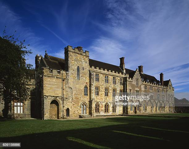 Battle Abbey East Sussex c19902010 View of the Cloister and the West Range from the south east Battle Abbey is a partially ruined Benedictine abbey...