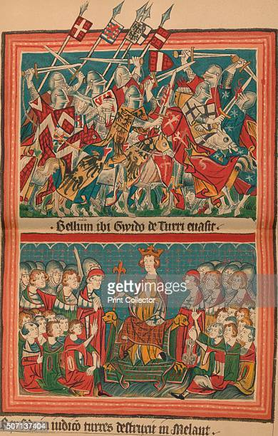 Battle and Court of Justice During Henry VII's March Upon Rome A Page from the Codex Balduineus' c1340 The Codex Balduineus the manuscript describes...