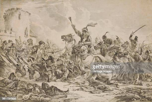 Battle Between the Georgians and Mountain Tribes 1826 Private Collection
