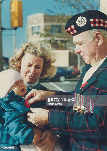 Battle cry Oneyear Danielle Roscoe wails over show photography not a pinprick as 48th Highlander veteran William Whaites who fought in Sicily and...