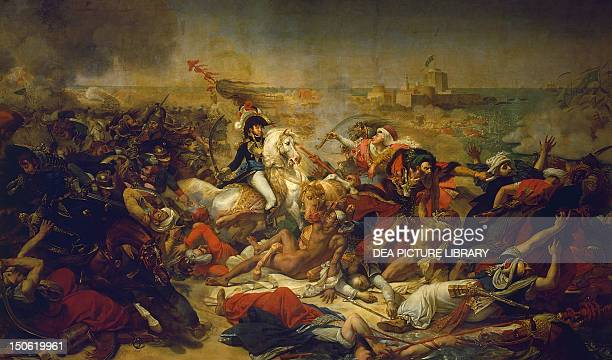 Battle of Aboukir July 25 by AntoineJean Gros oil on canvas 578x968 cm French Revolutionary Wars Egypt 18th century
