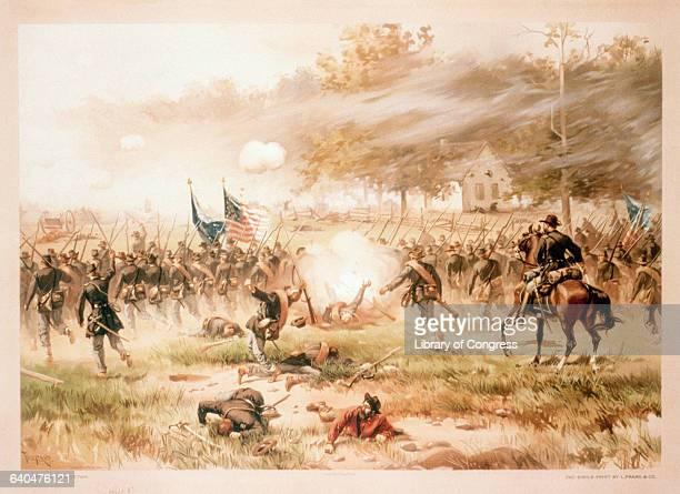 Battle of Antietam by L Prang Co