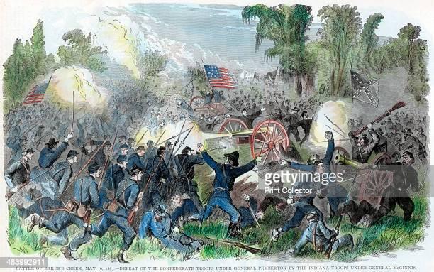 Battle of Baker's Creek Mississippi American Civil War 16 May 1863 Defeat of the Confederate troops under LieutenantGeneral John C Pemberton by...