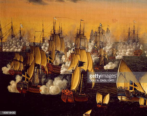 Battle of Bjorko near Stockholm by Johan Tietrich Schoultz 1790 RussianSwedish wars Sweden 18th century