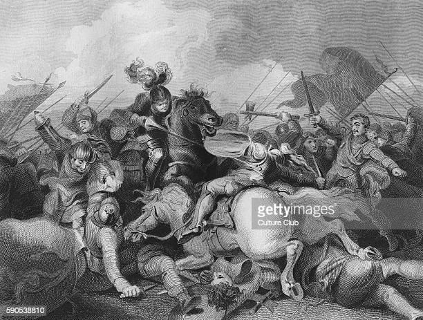 Battle of Bosworth Field, fought on the 22nd August 1485. The last significant battle of the War of the Roses, won by the Lancastrians led by Henry...