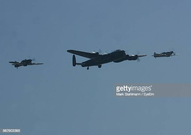 battle of britain memorial flight against clear sky - battle of britain stock pictures, royalty-free photos & images