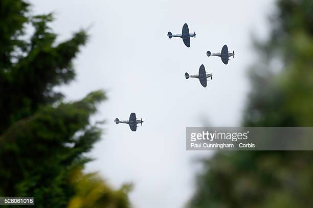 Battle of Britain Memorial Flypast, in what is believed to be the biggest memorial flight of its kind, 18 Spitfires and six Hurricanes will scramble...
