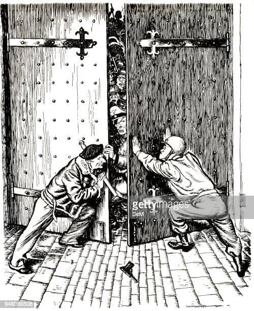Battle of Bulge on the magazine Punch General Bernard Montgomery and General George Patton 'Shutting the Doors on the Bulge' Punch or the London...