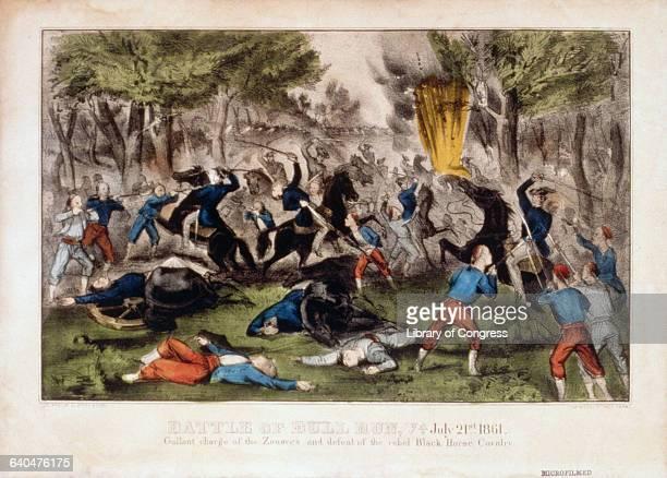 Battle of Bull Run VA July 21st 1861 by Currier Ives