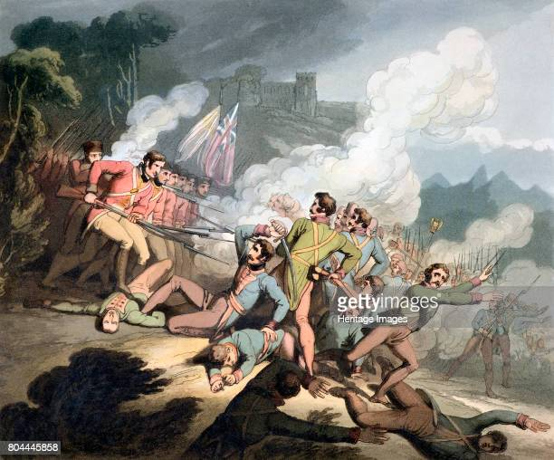 Battle of Busaco, Portugal, 27th September 1810 . British and Portuguese troops commanded by Wellington repulsed the French under Massena. From The...
