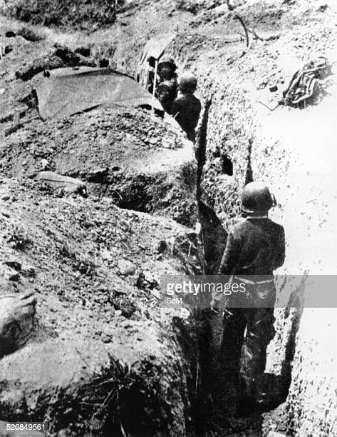 Battle of Dien Bien Phu 1954Dien Bien Phu Dien Bien Phu French troops building dense communication trench system for defense from the Vietminh assault