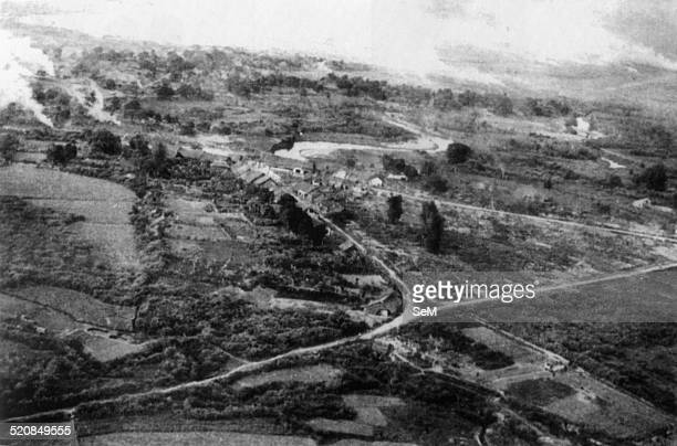 Battle of Dien Bien Phu 1954-Dien Bien Phu valley before the day where French paratroopers jump into and occupy.
