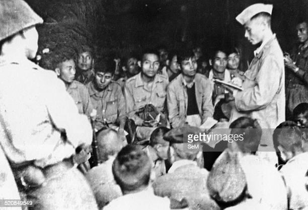 Battle of Dien Bien Phu 1954Dien Bien Phu Vietminh The Cadres of Regiment 88 Brigade 308 disseminate the combat plan to the soldiers