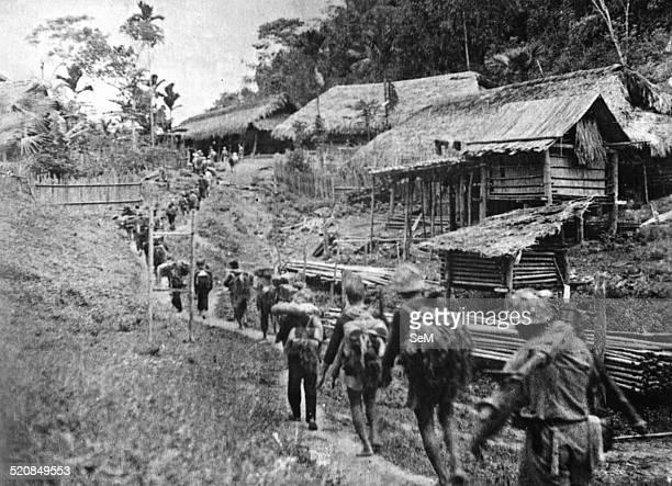 Battle of Dien Bien Phu 1954Vietminh Dien Bien Phu Brigade 316 moves the battlefielkd to the North West