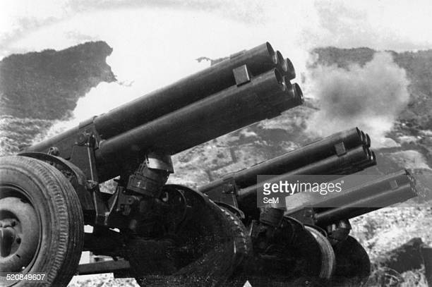 Battle of Dien Bien Phu1954 Rocket 122mm presented in first time at Dien Bien Phu by night of 06 may 1954 starting the 3th attack phase of the...