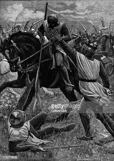 Battle of Evesham 12 August 1265 King Henry III in danger During Second Barons' War Defeat of Simon de Montfort Earl of Leicester and rebellious...