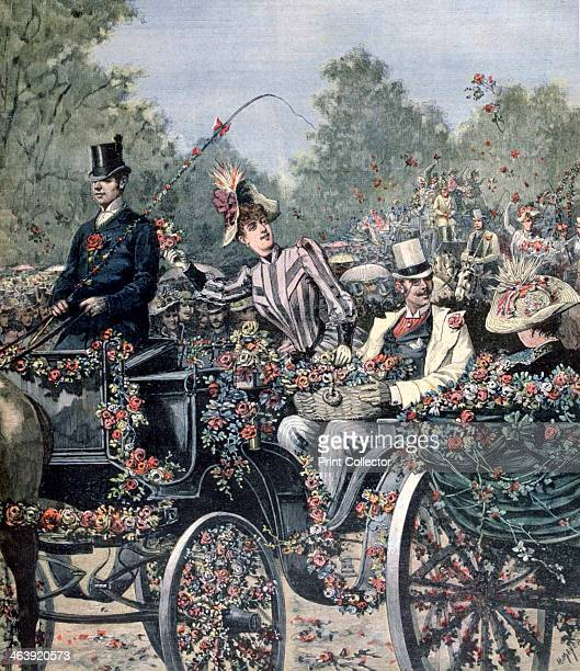 Battle of Flowers Parade 1891 A print from a supplement to the Le Petit Journal 13th June 1891