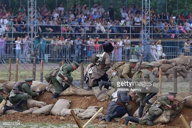 Battle of Galicia happened between Russia and AustriaHungary during World War I in 1914 is acted with explosion effects weapons and actors and...
