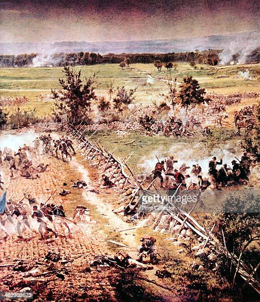 Battle of Gettysburg American Civil War 13 July 1863 Union infantry advancing across a ploughed field Gettysburg was the largest battle ever fought...