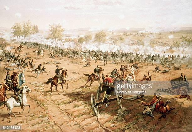 Battle of Gettysburg by L. Prang & Co.