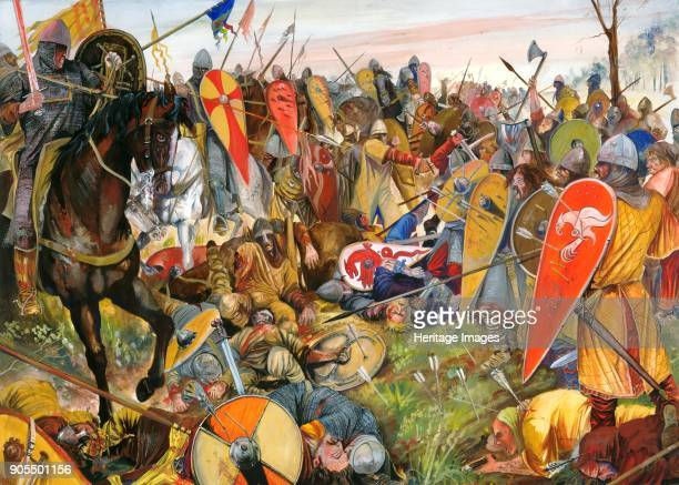 Battle of Hastings 1066 Reconstruction drawing Artist Jason Askew