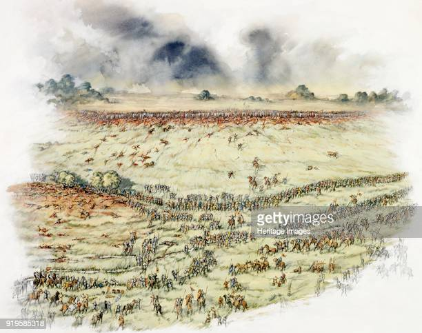 Battle of Hastings 1066 Reconstruction drawing showing the armies regrouping Normans take food and water their horses