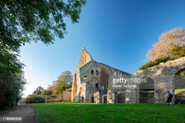 1066 battle of hastings abbey, battle, england, 2018 - battlefield stock pictures, royalty-free photos & images