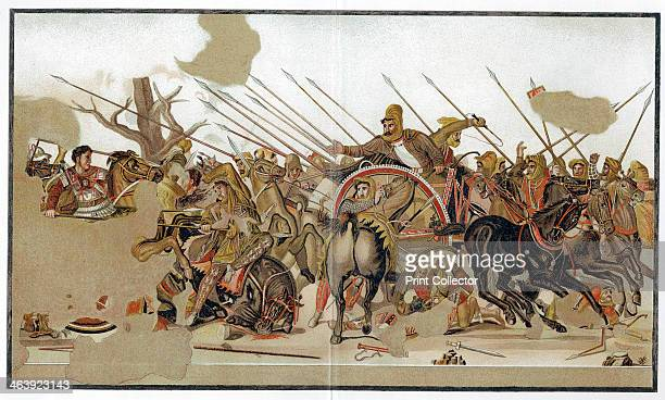 Battle of Issus 333 BC Alexander The Great seen here at far left defeating the forces of the Persian king Darius III at Issus in Cilicia Illustration...