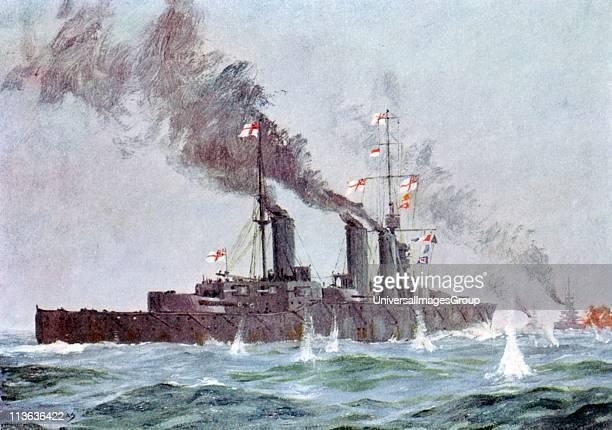 Battle of Jutland 31 May 1 June 1916 British fleet under Jellicoe saw off German fleet under Scheer but battle not fully joined Battle cruiser 'HMS...
