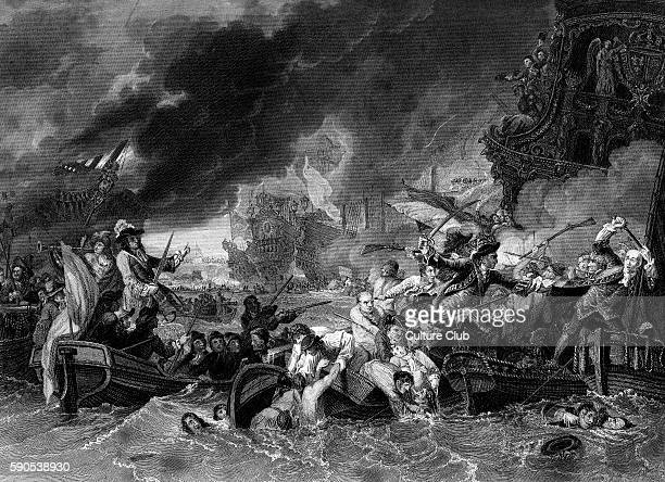Battle of La Hogue May 1692 Under the command of Admiral Edward Russell 1st Earl of Orford the English fleet destroyed a number of French ships near...