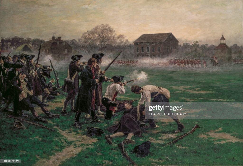 Battle of Lexington, American Revolutionary War : News Photo