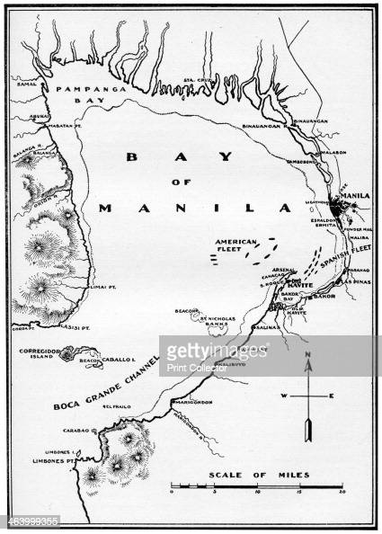 Spanish American War Philippines Map.Battle Of Manila Bay Philippines Spanish American War 1898 The